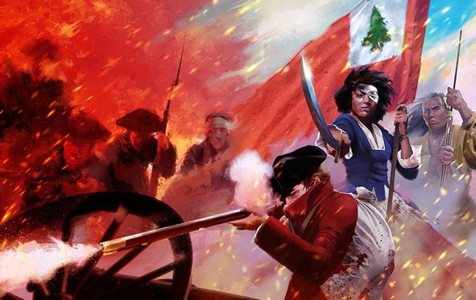 The cover for Flames of Freedom RPG