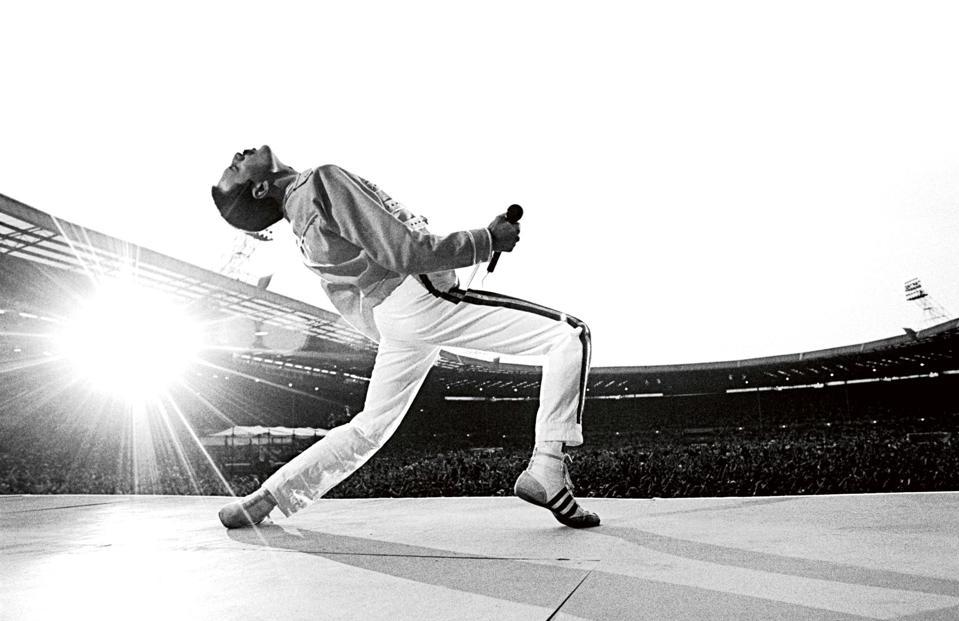 Freddie Mercury, Wembley Stadium, 1986.