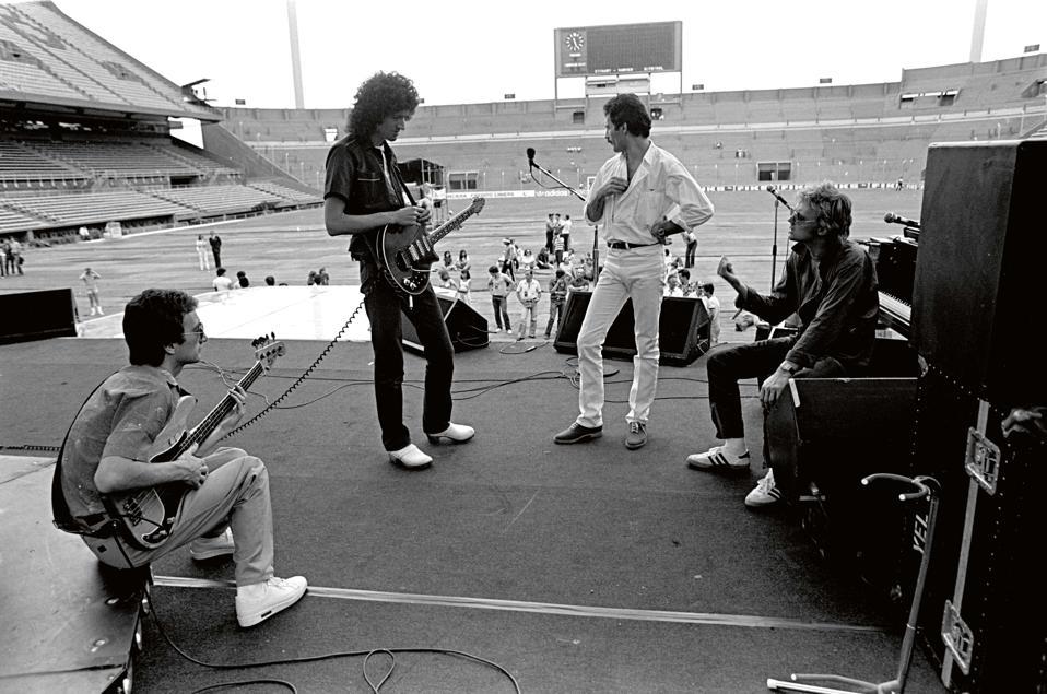Queen, sound check, Argentina, 1981.