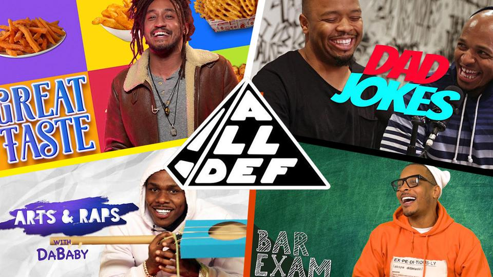 composite image of shows on All Def Digital