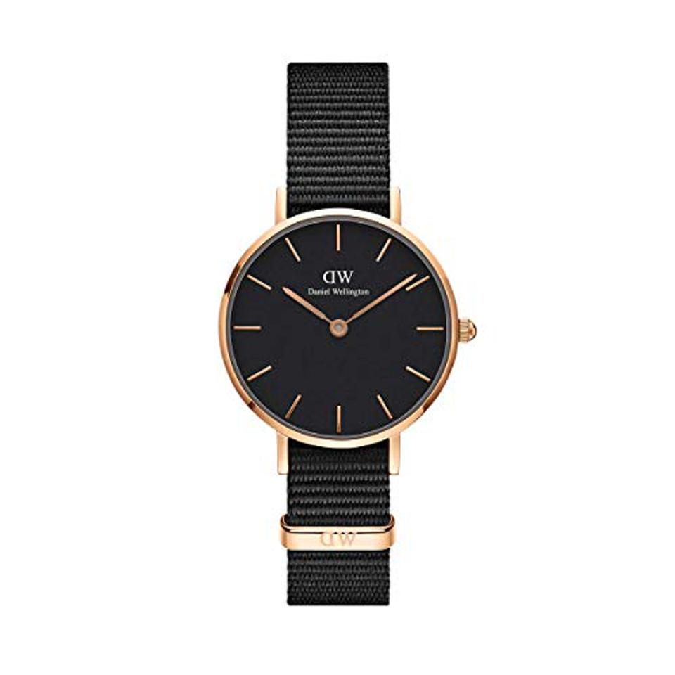 Daniel Wellington Classic Petite Gold Japanese-Quartz Watch with Nylon Strap