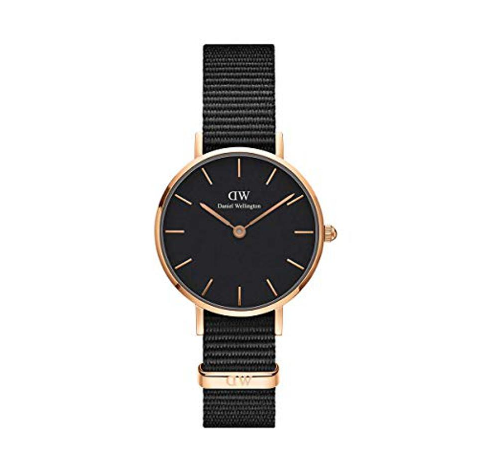 Amazon Prime Day Daniel Wellington Classic Petite Gold Japanese-Quartz Watch with Nylon Strap