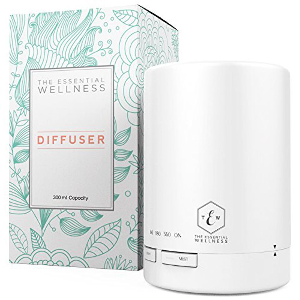 Essential Oil Diffuser Humidifier (300 ml) BPA Free Air Diffusers for Essential Oils - Light Therapy & Aromatherapy Diffuser Air Humidifier