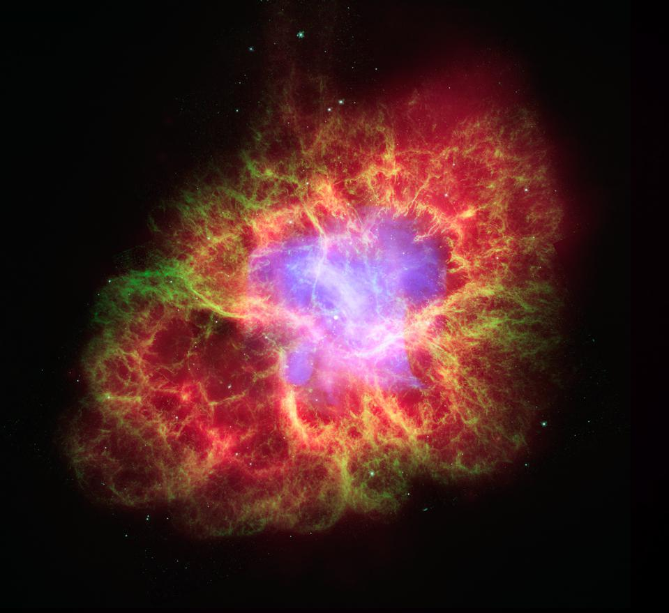 A star's spectacular death in the constellation Taurus was observed on Earth as the supernova of 1054 A.D. NASA's Spitzer Space Telescope.