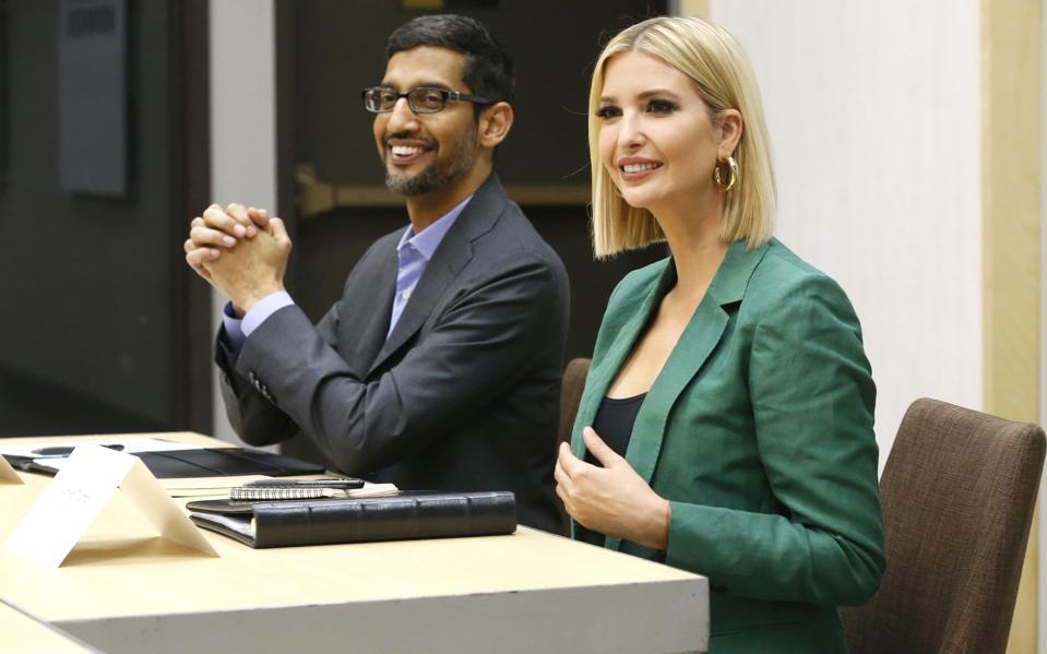 Ivanka Trump And Google CEO Sundar Pichai Hold Roundtable In Dallas