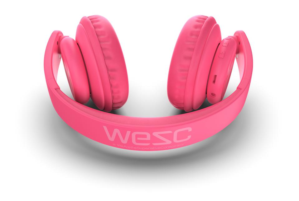 Pink pair of WeSC On-Ear headphones