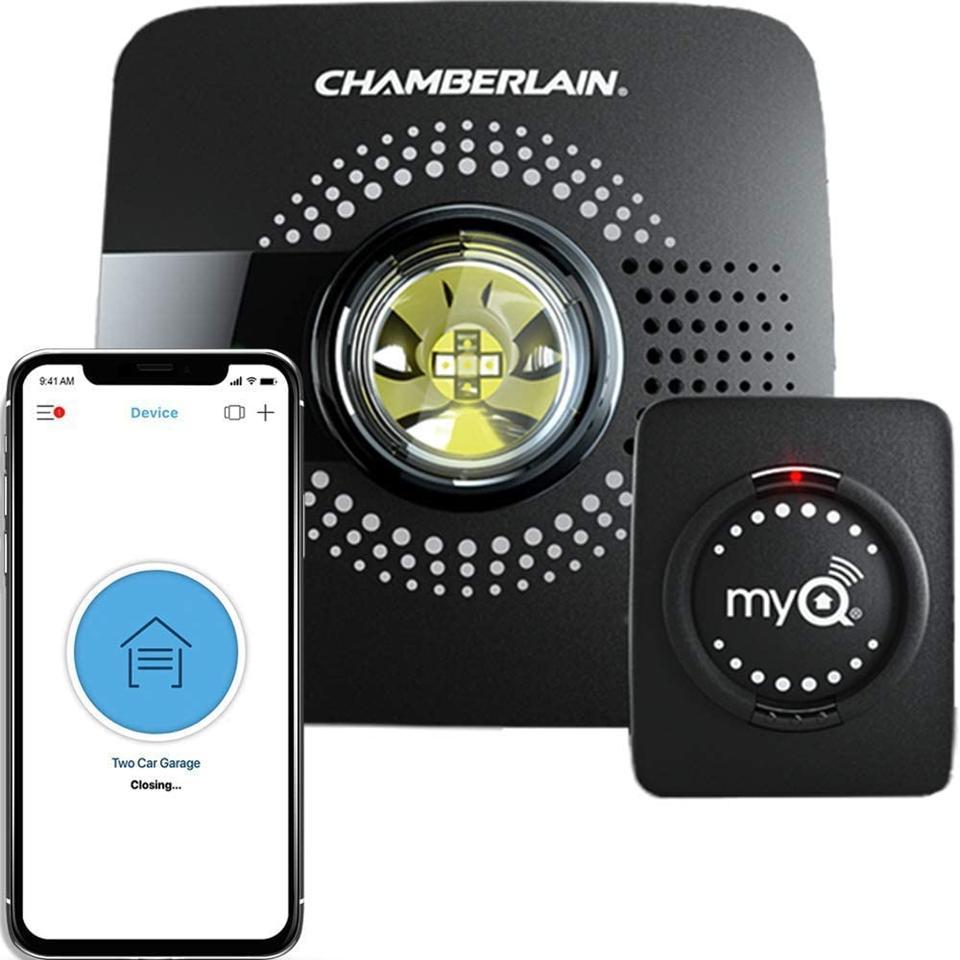 Smart opening garage door for Chamberlain MyQ