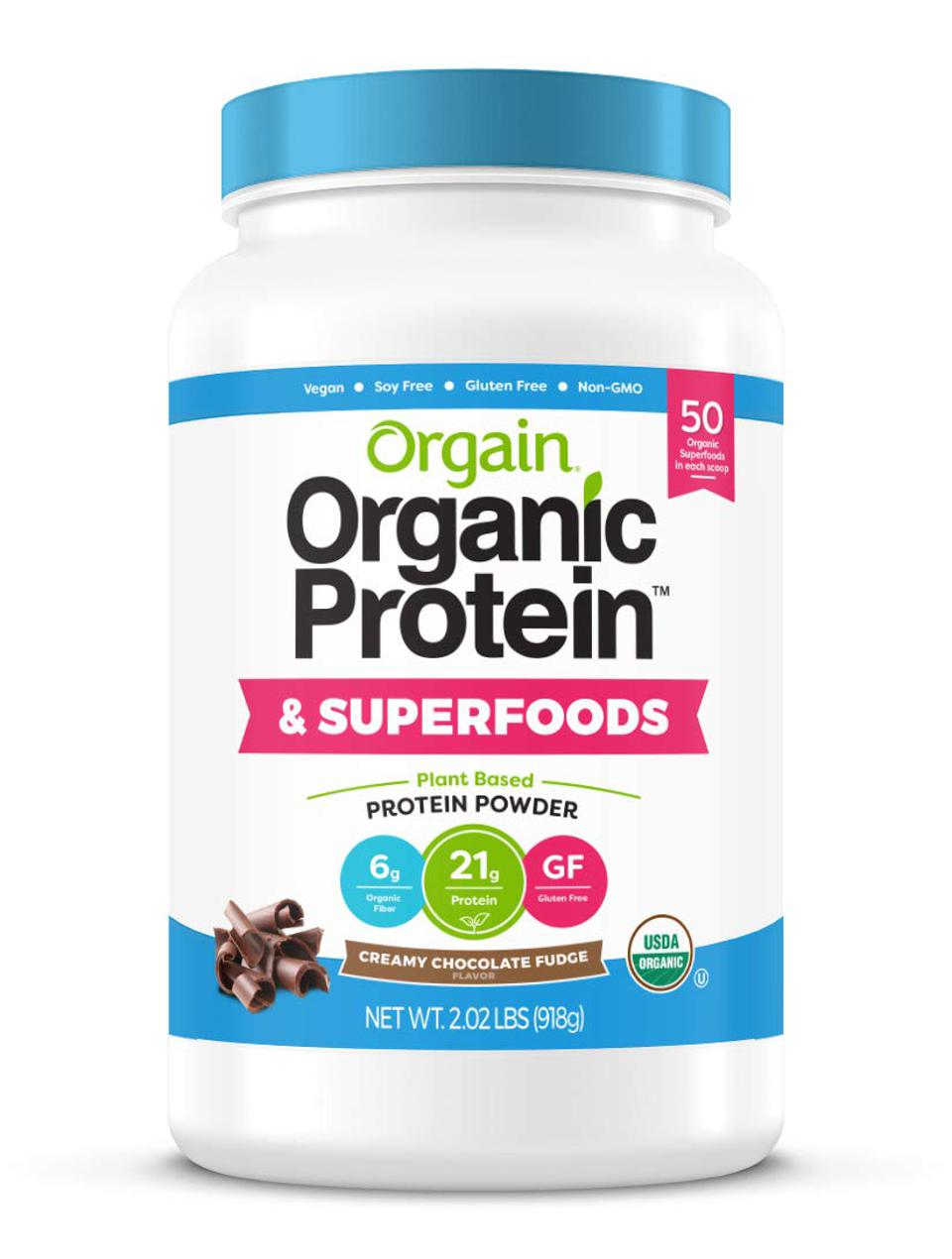 Orgain Organic Plant Based Protein + Superfoods Powder