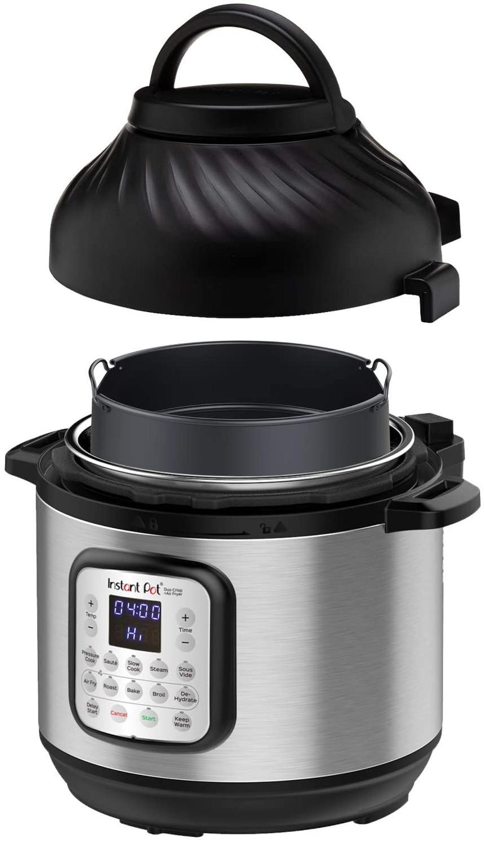 Instant pressure cooker Duo Crisp Pressure 11 in 1 with air fryer, 8 Qt