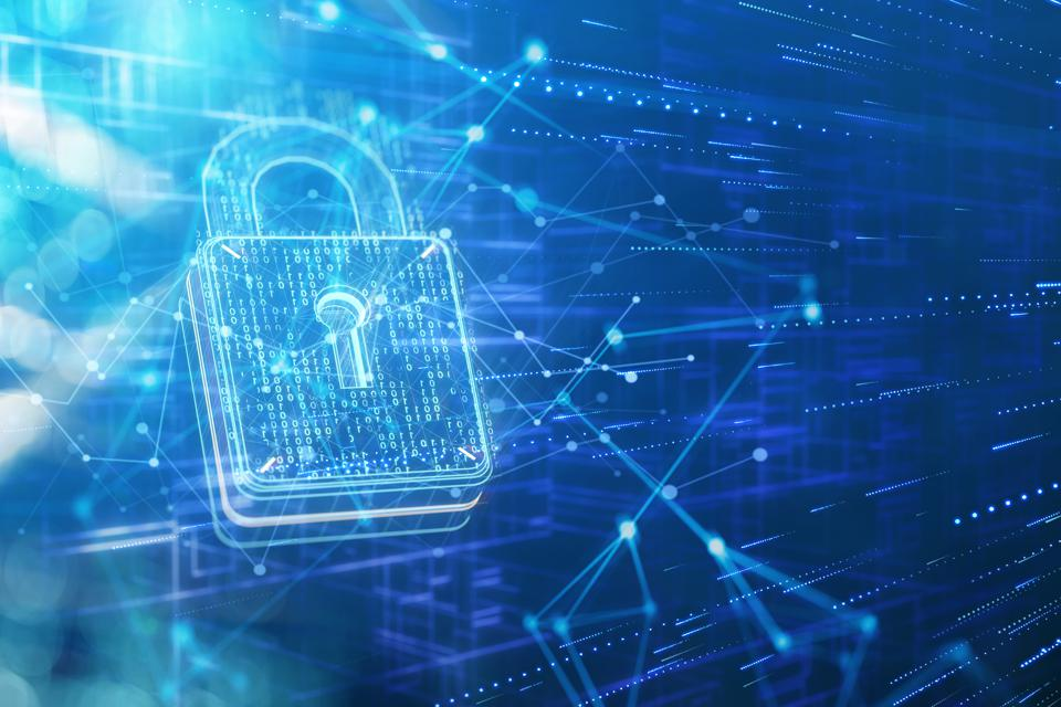 Security padlock and network data