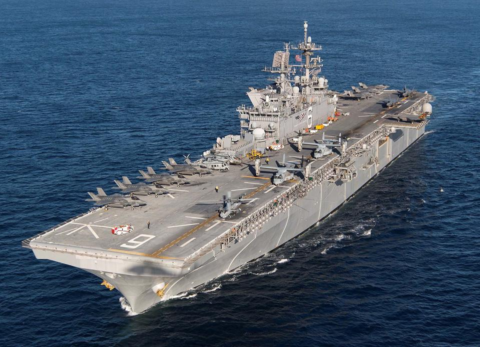 USS America at sea.