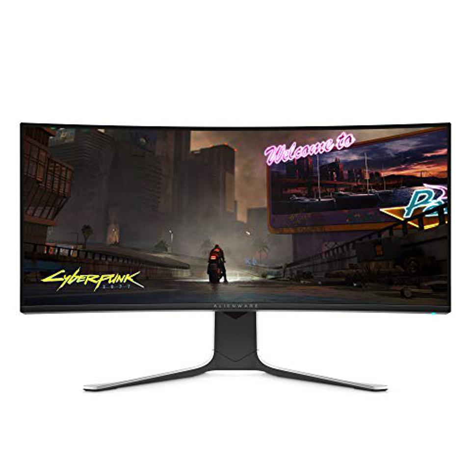 Prime day deals ALIENWARE AW3420DW NEW Curved 34 Inch WQHD 3440 X 1440 120Hz, Monitor, Lunar Light