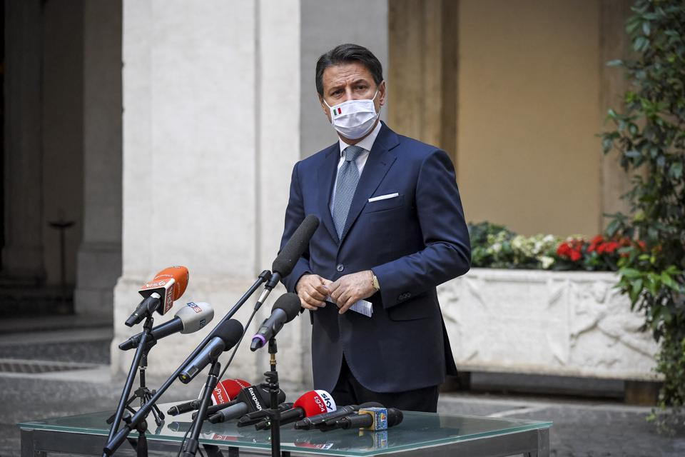 Italian PM Conte Announces New COVID-19 Safety Measures Amid Surge In Cases