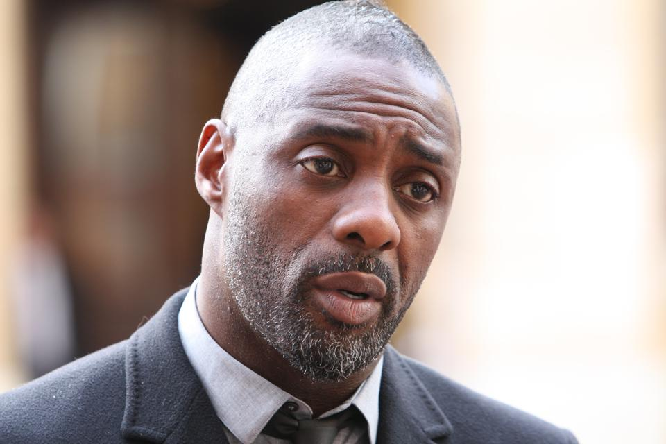 Idris Elba at the 'Defeating Ebola in Sierra Leone' conference