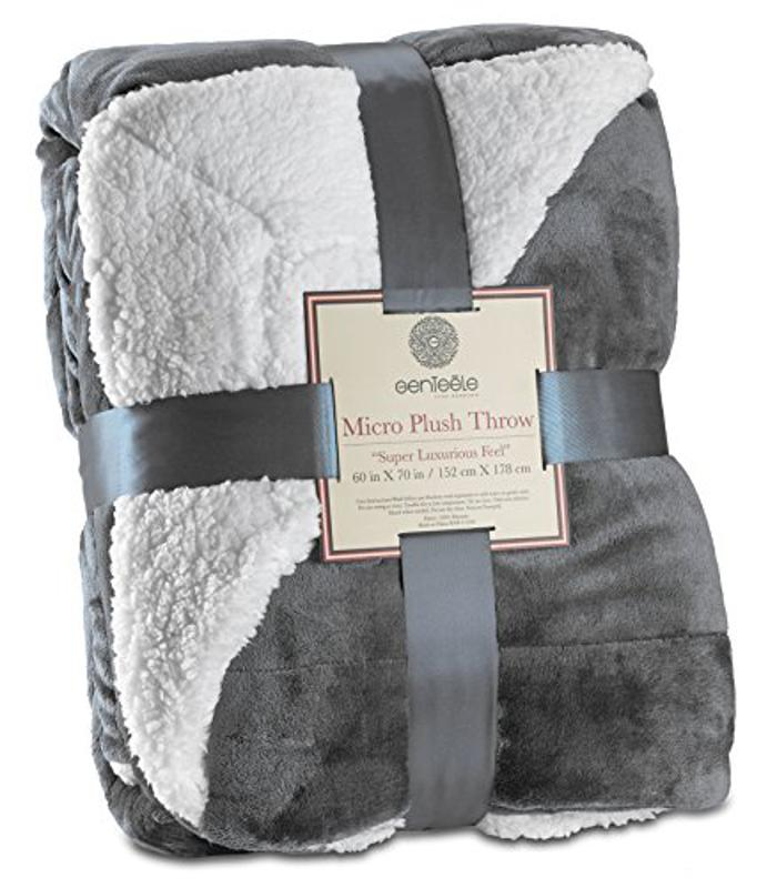 Prime Day deal Genteele Sherpa Throw Blanket