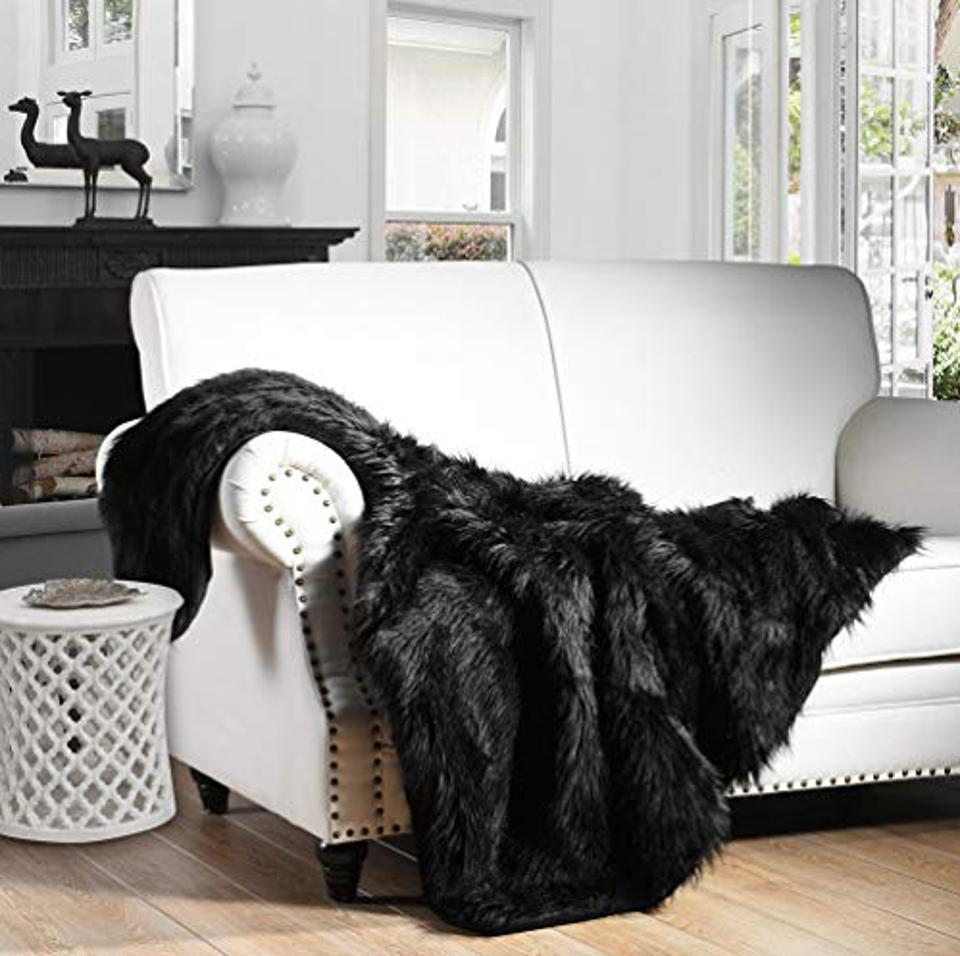 Prime Day Deal HORIMOTE HOME Luxury Plush Faux Fur Throw Blanket