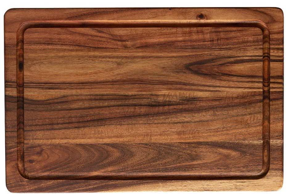 jalz jalz Wooden Cutting Board for Kitchen - Large Chopping Board With Hand Grip 24 x 18 Inches