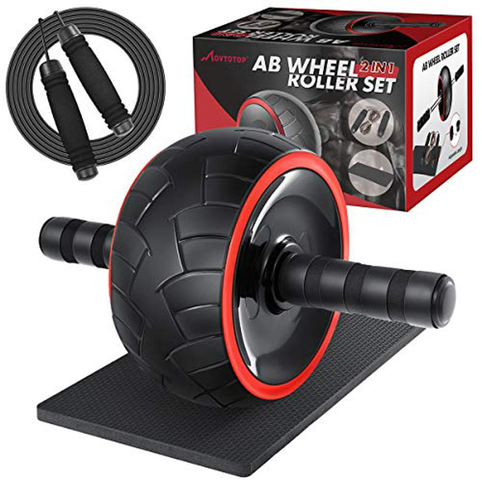 Amazon Prime Day MOVTOTOP 3-in-1 wheeled wheel set with knee mat and skipping rope