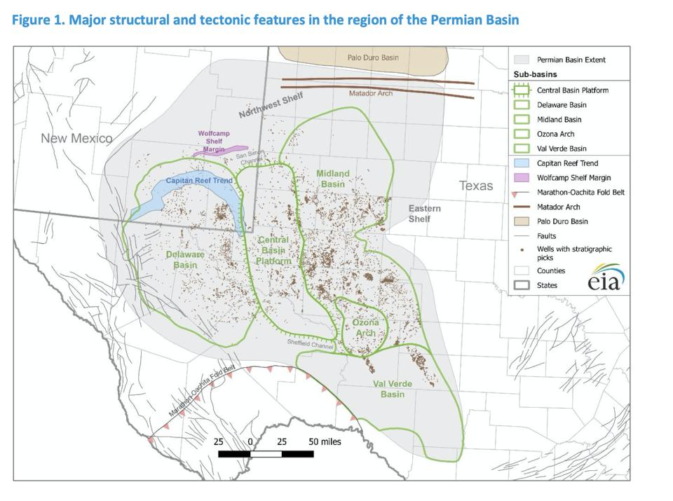 map of the permian basin.