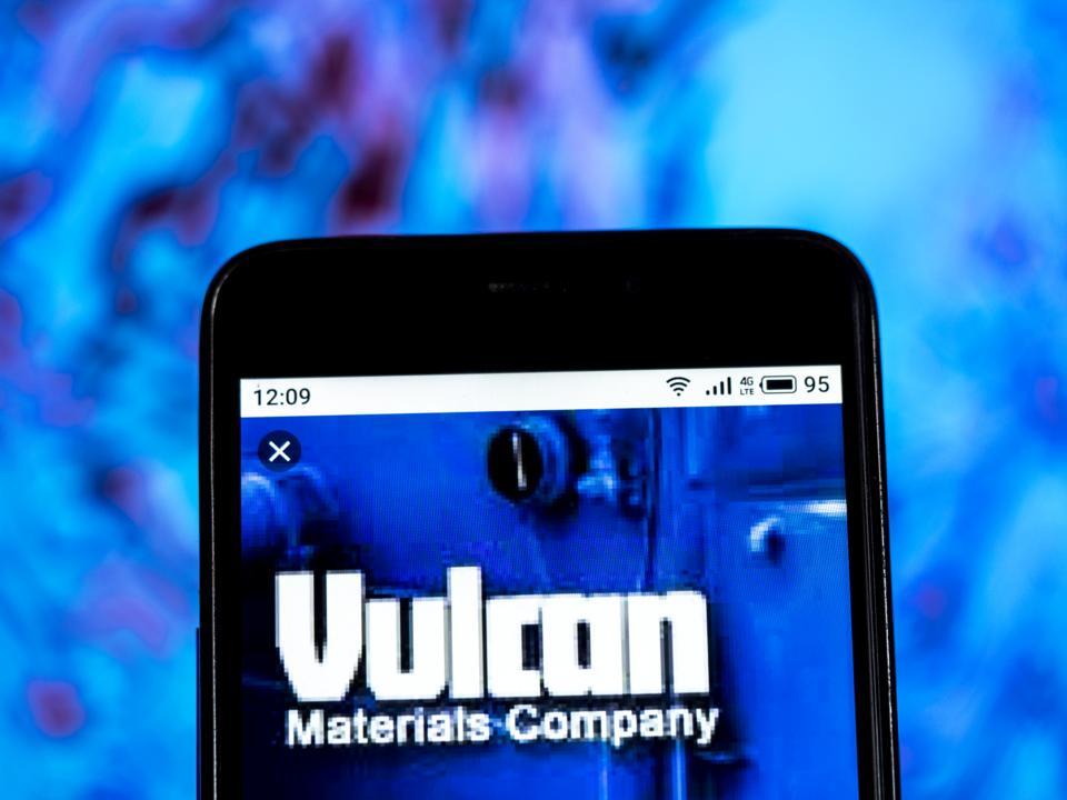 Vulcan Materials Company, Construction company logo seen