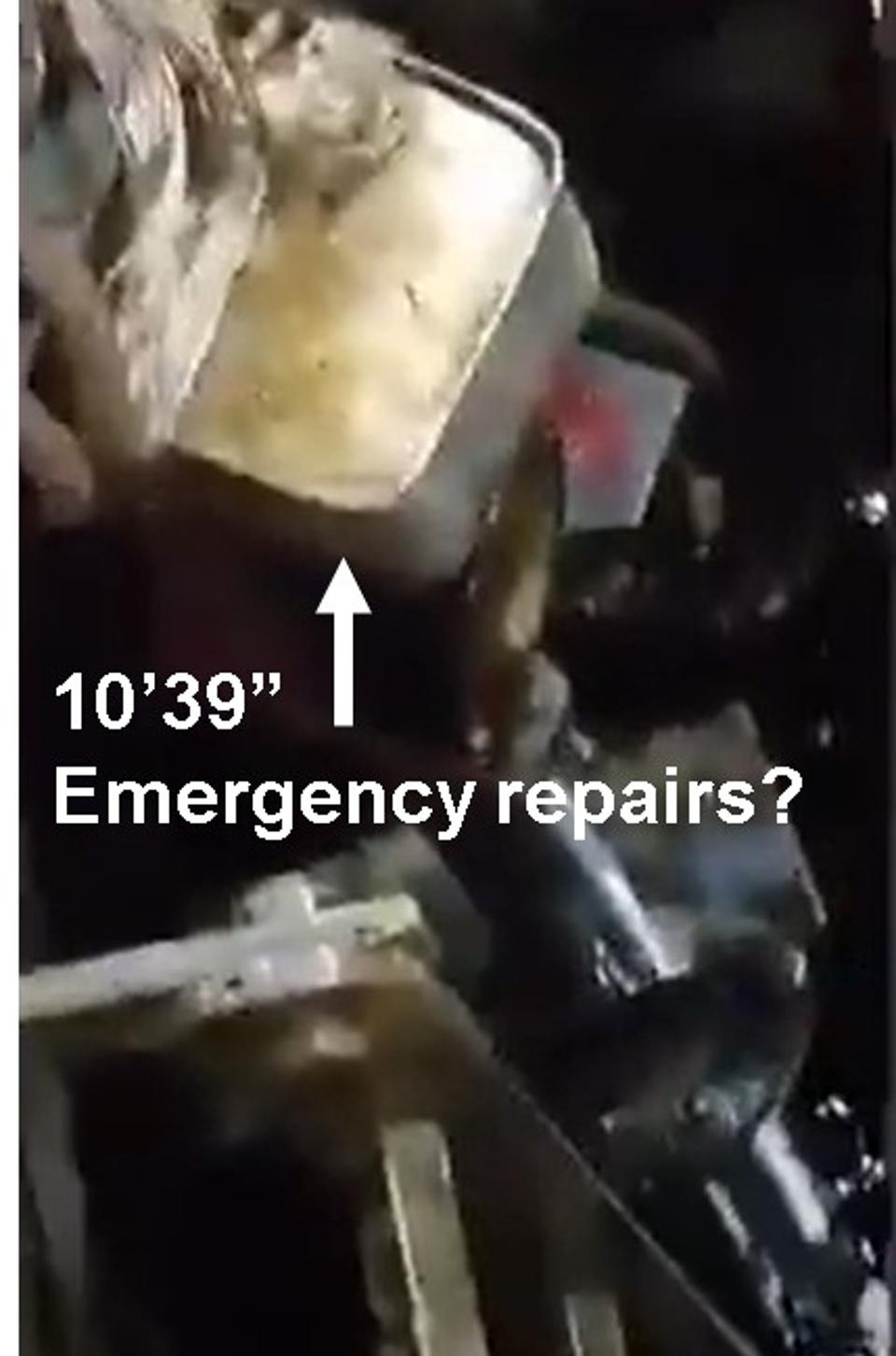 Emergency repairs within the engine room?  What other emergency repairs had been carried out and had they been certified as safe?