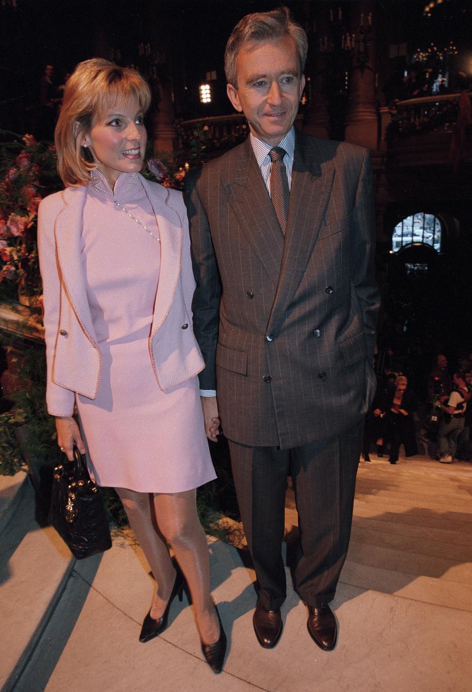 Bernard Arnault et sa femme Hélène à Paris en 1998