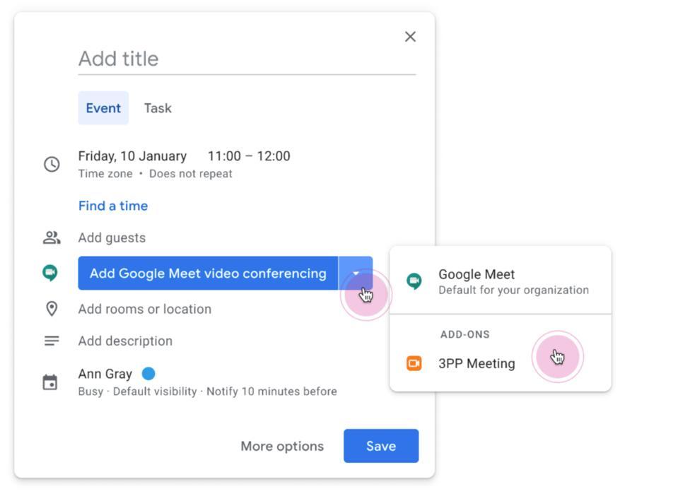 Google Meet update info