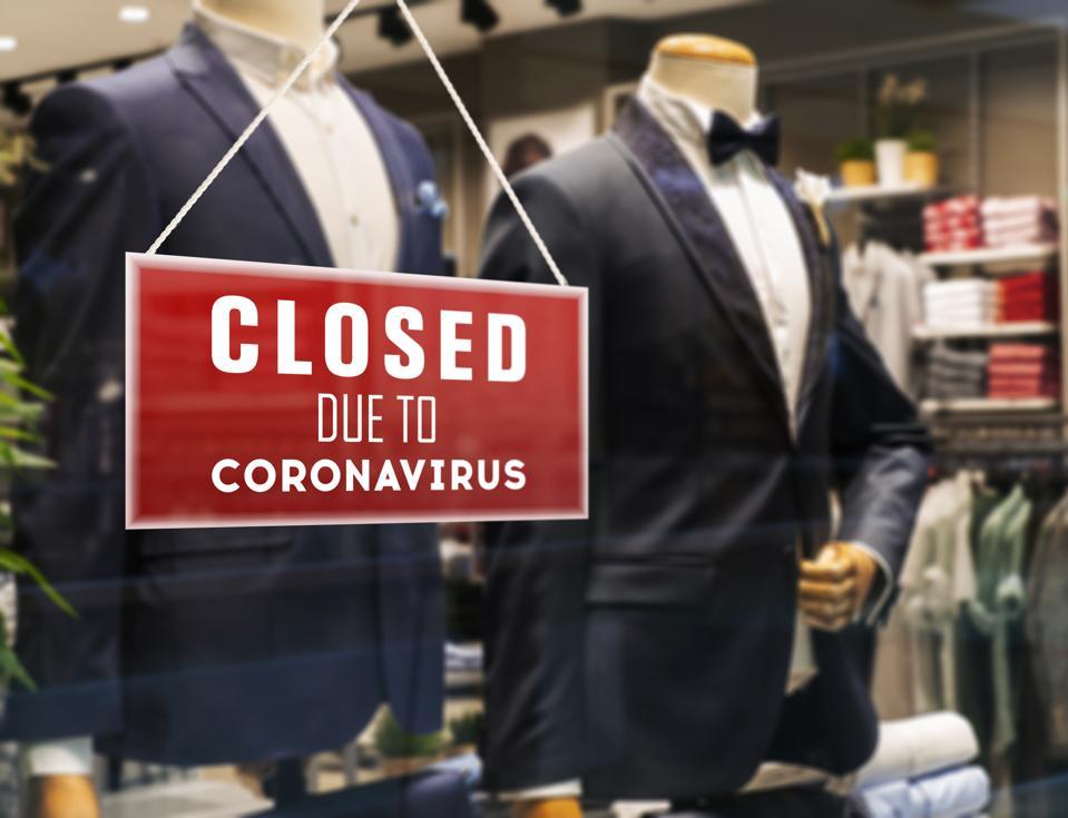 Closed Suit Store Due To Coronavirus
