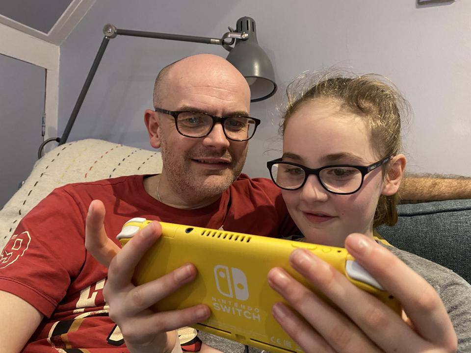 Father and Daughter Play Mario