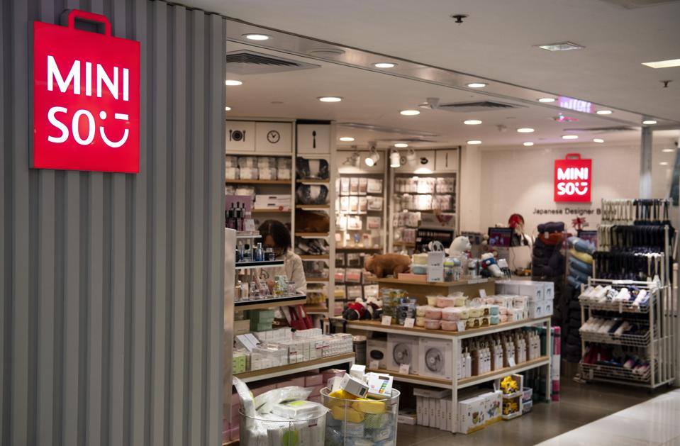 Miniso specializes in household and consumer goods