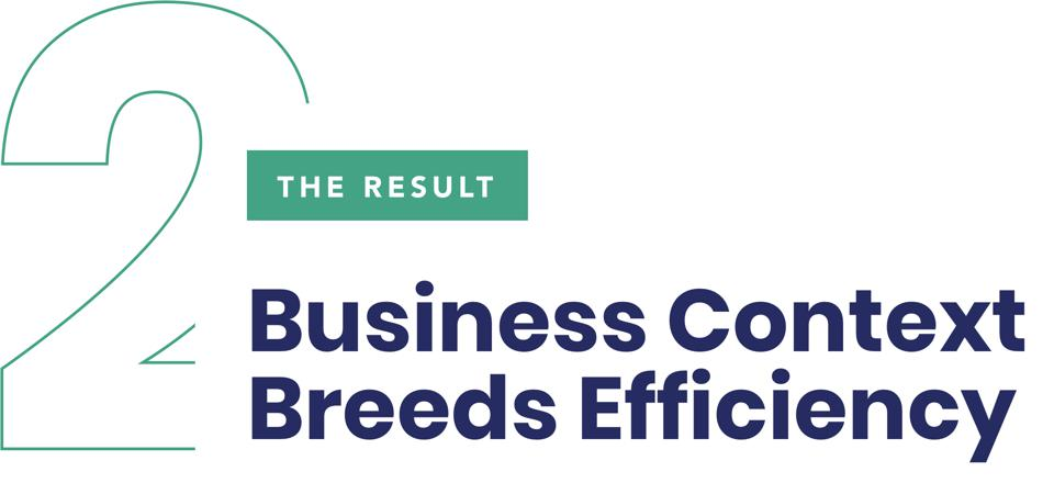 The Results 2: Business Context Breeds Efficiency