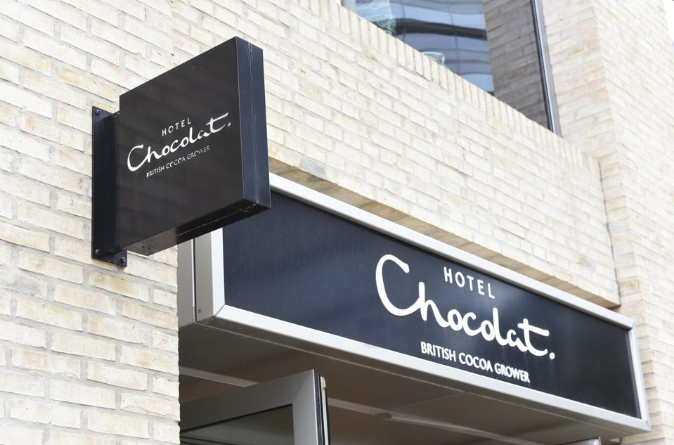 Hotel Chocolat, British chocolatier shop East London, near Spitalfields Market. (Photo by Petra Figueroa/SOPA Images/LightRocket via Getty Images)