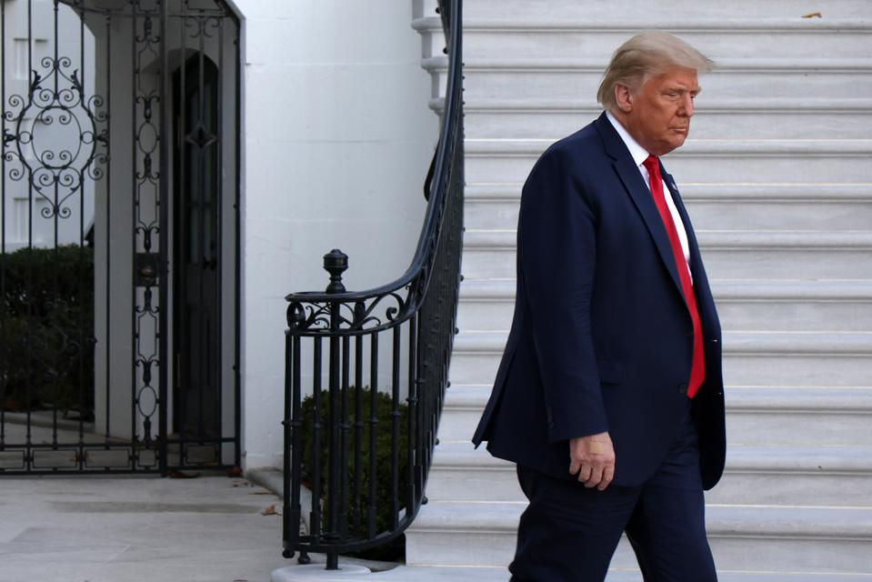 President Trump Departs White House For Campaign Rally In Pennsylvania