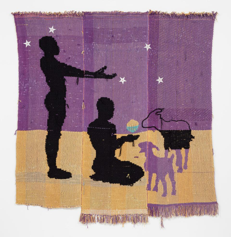 A tapestry woven by Diedrick Brackens