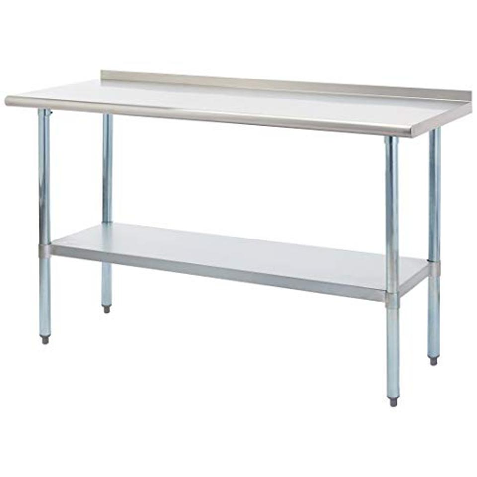 Rockpoint Carmona Tall NSF Stainless-Steel Commercial Kitchen Work Table