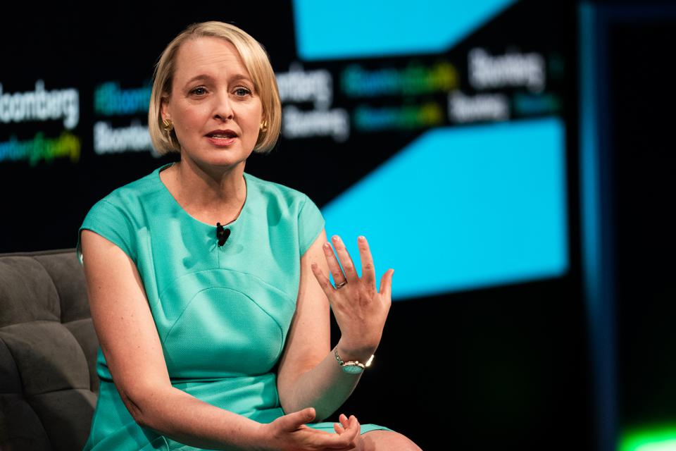 Accenture CEO Julie Sweet says the pandemic has accelerated the pace of change.