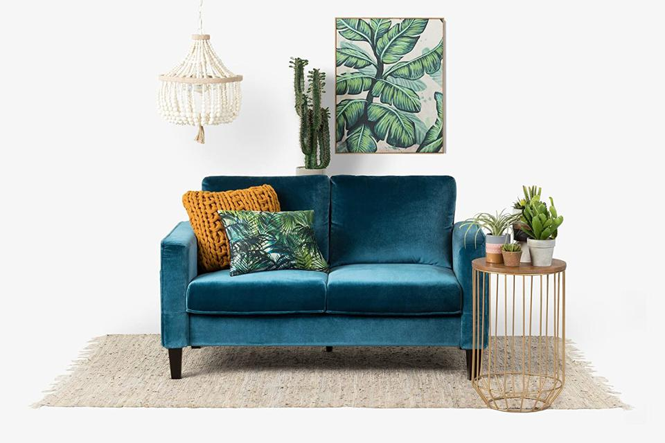 best prime day furniture deals velvet couch