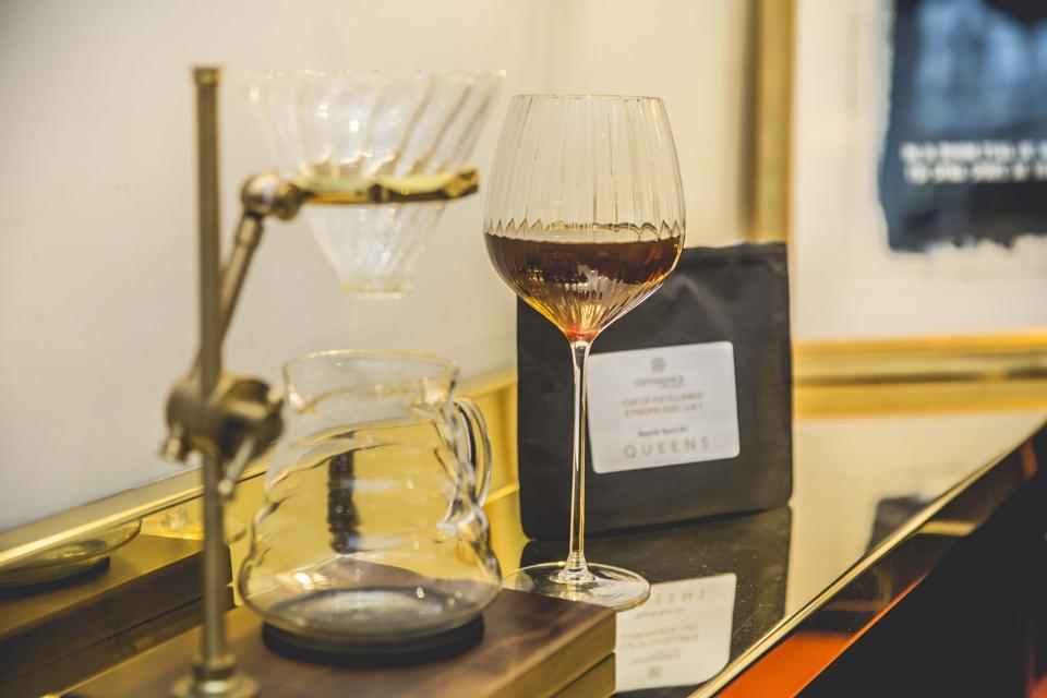 coffee, wine glass
