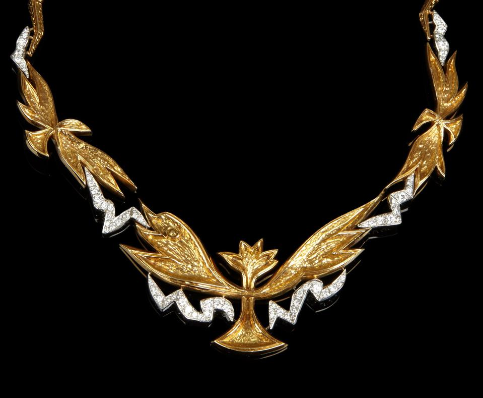 """The """"Poseidon"""" necklace by Georges Braque being offered by Didier Ltd"""