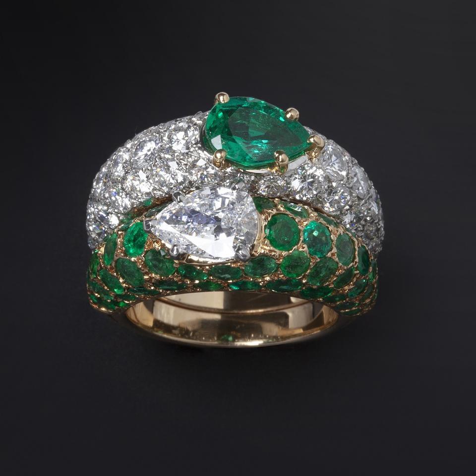 "The ""toi et moi"" ring set being offered by Marjan Sterk"