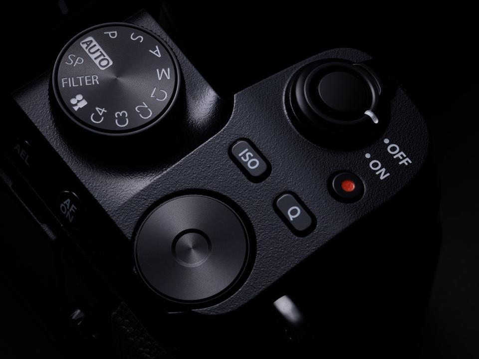Top view of Fujifilm X-S10