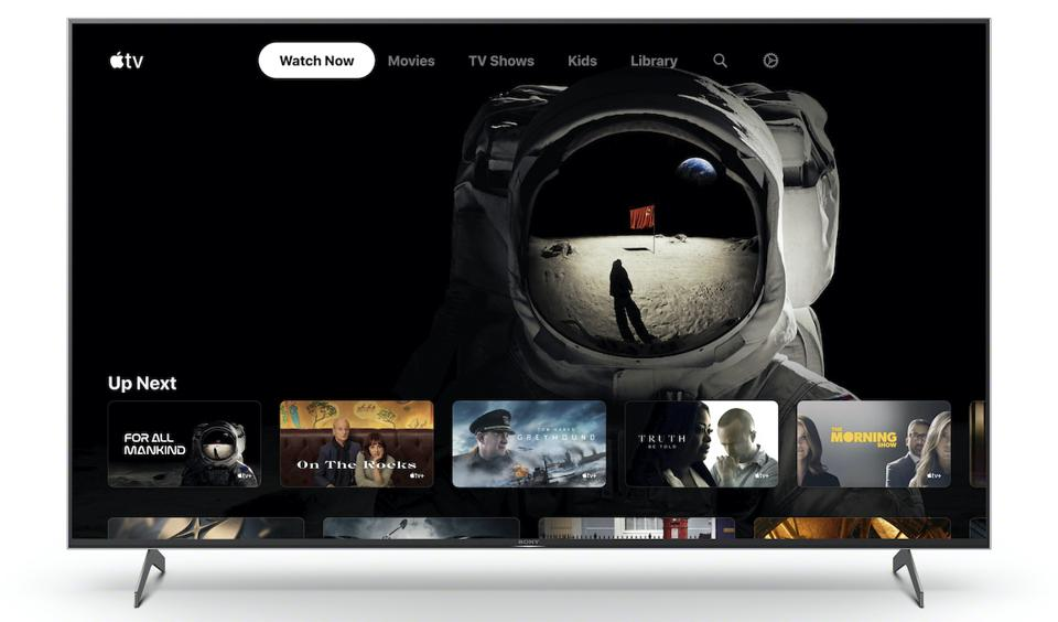 Sony X900H showing Apple TV