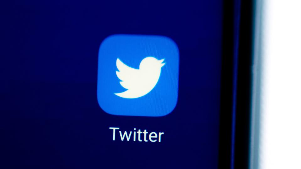 In this photo illustration an icon of Twitter app displayed...