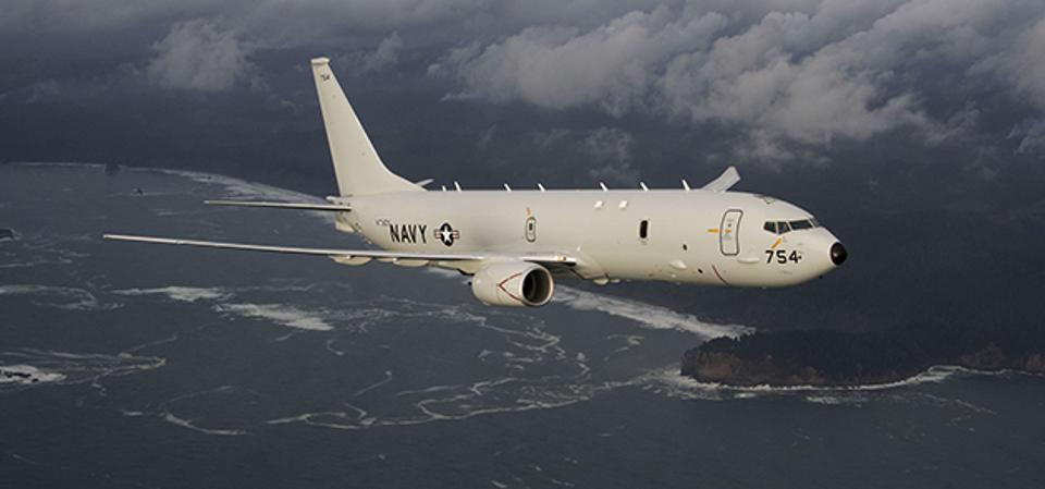 Spirit AeroSystems builds structures for the Boeing P-8A Poseidon.