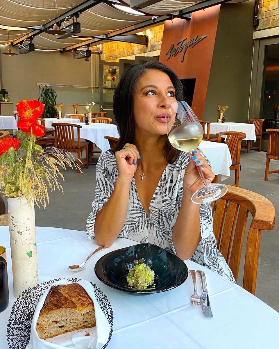 Dining at La Toque.