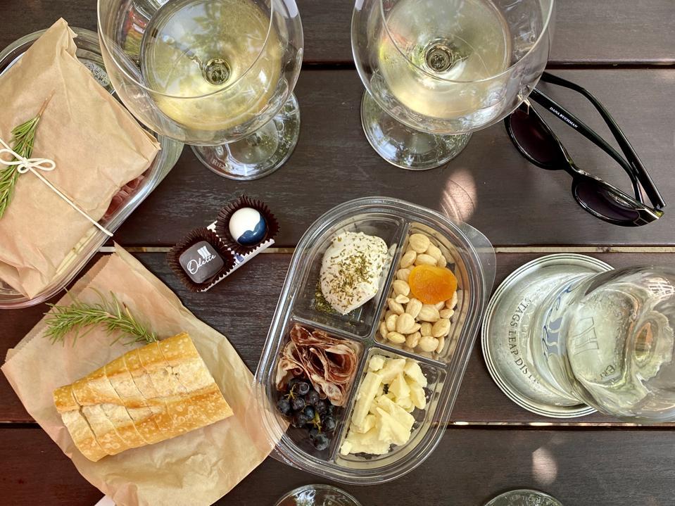 Wine tasting at Odette.