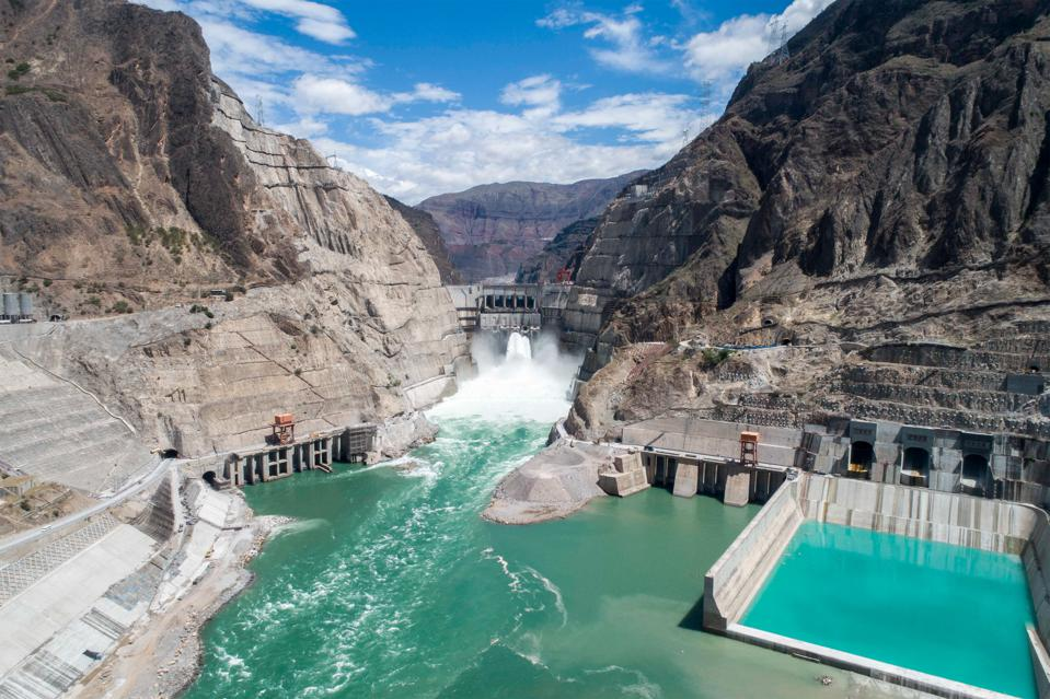 Wudongde Hydropower Station Under Construction