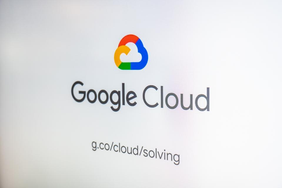 Google Cloud signage seen at Norman Y. Mineta San Jose...