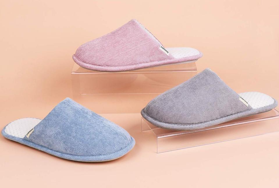 EverFoams Women's Original Corduroy Memory Foam Slippers