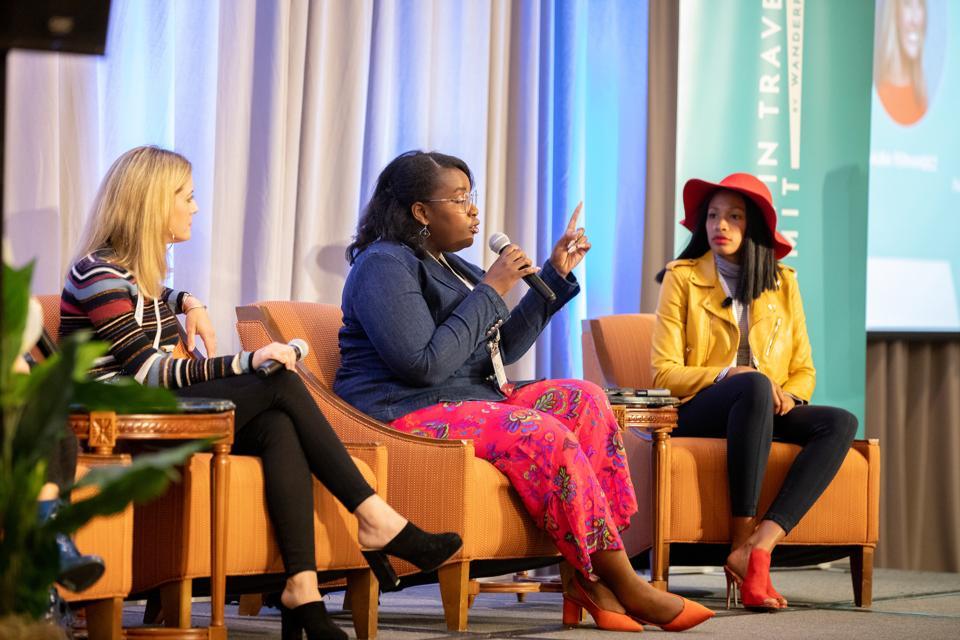 women on a panel